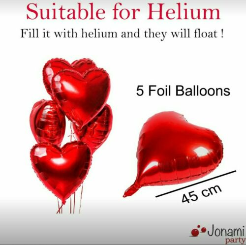 show original title Details about  /Valentines day decorations mariag 50 candles shaped ♥ 5 balloons ♥ 1000 petals