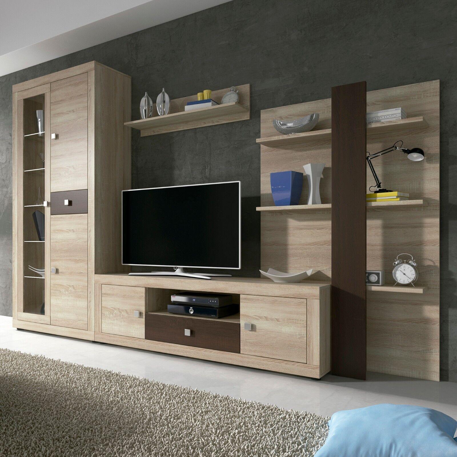 Mueble de comedor con leds, conjunto comedor salon vitrina modulo Tv ...