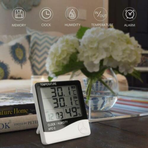 LCD Digital Innen Außen Thermometer Wetterstation Funk Temperatur Hygrometer DE