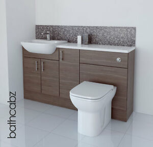 image is loading grey brown bathroom fitted furniture 1500mm brown bathroom furniture