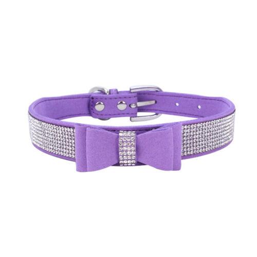 Puppy Bling Cat Collars Rhinestone Adjustable 1PC Crystal Pet Collar Bowknot