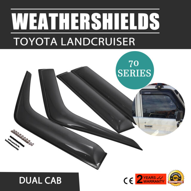 New Weathershields For Toyota Landcruiser 70 76 78 79 Series Visors Dual Cab Au