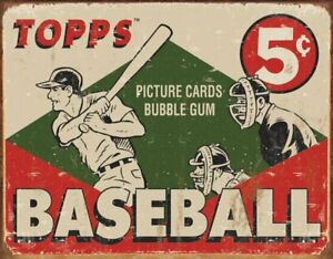 1955-Topps-Baseball-Box-Vintage-Collectible-Rustic-Retro-Metal-Sign-16-x-13in