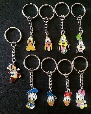 Minnie Mouse Mickey Donald Duck Daisy Inspired Key Chains