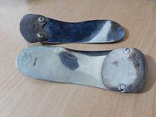 2 Vintage Metal Y Cuero Calzado de Soporte de pie dura shoehorns dificulta & Dr Scholls