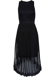 Damen Neu Gr Kleid Mit Spitze Schwarz Cocktailkleid Partykleid Abendkleid 38 wzXfz