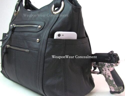 Concealment Purse Black FREE GIFT Concealed Carry Holster Gun Conceal Purse #8