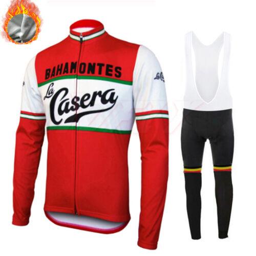 Polaire Homme Manches Longues Maillot De Cyclisme Veste De Vélo top bike Cold Wear thermique