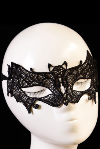 Women Ladies Black Lace Bat Mask Costume Party Holiday Dance Eye Dress Accessory