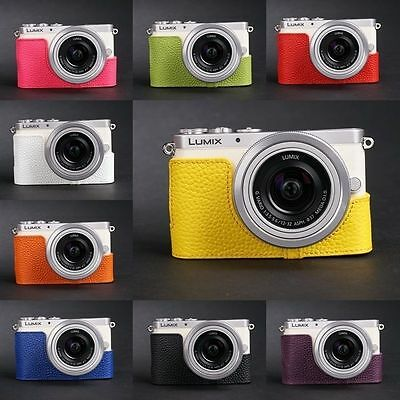 Real Leather Half Camera Case Camera Bag for Panasonic GM1 GM1S 10 colors