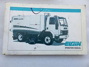 new elgin street sweeper geovac operator s manual oem factory ebay rh ebay com elgin pelican sweeper service manual Elgin Crosswind Sweeper Manual