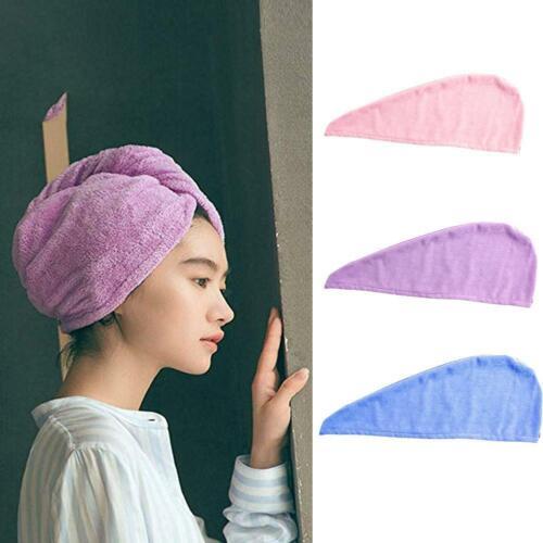 Microfiber Towel Quick Dry Hair Drying Turban Bathing Spa Cap Wrap Ha Hot
