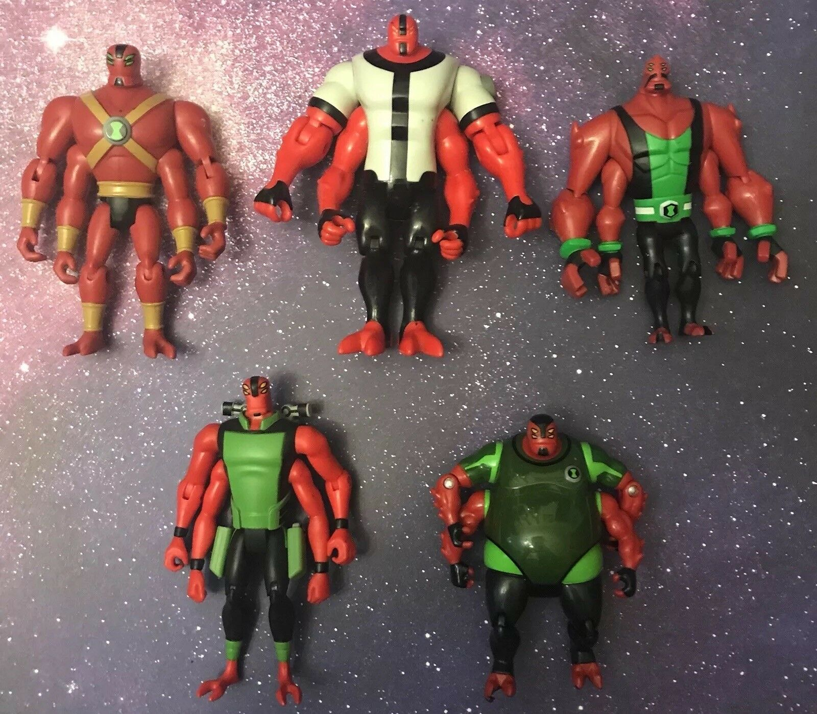 "RARE Ben 10/Omniverse Four Arms 4"" Action Figure Lot: Series 1/Manny/Gorvan/"