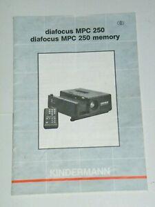 Originale-Bedienungsanleitung-manual-Kindermann-diafocus-MPC-250-memory