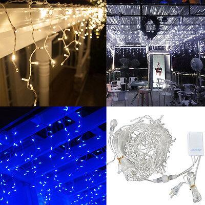 40*0.6M 1200LED Fairy Icicle curtain light for Xmas Christmas Wedding Extendable