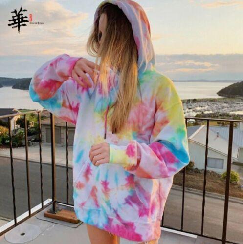 Regenbogen Hoodies Frauen Sweatshirt Oversize Tie Dye Hoodie Streetwear Pullover