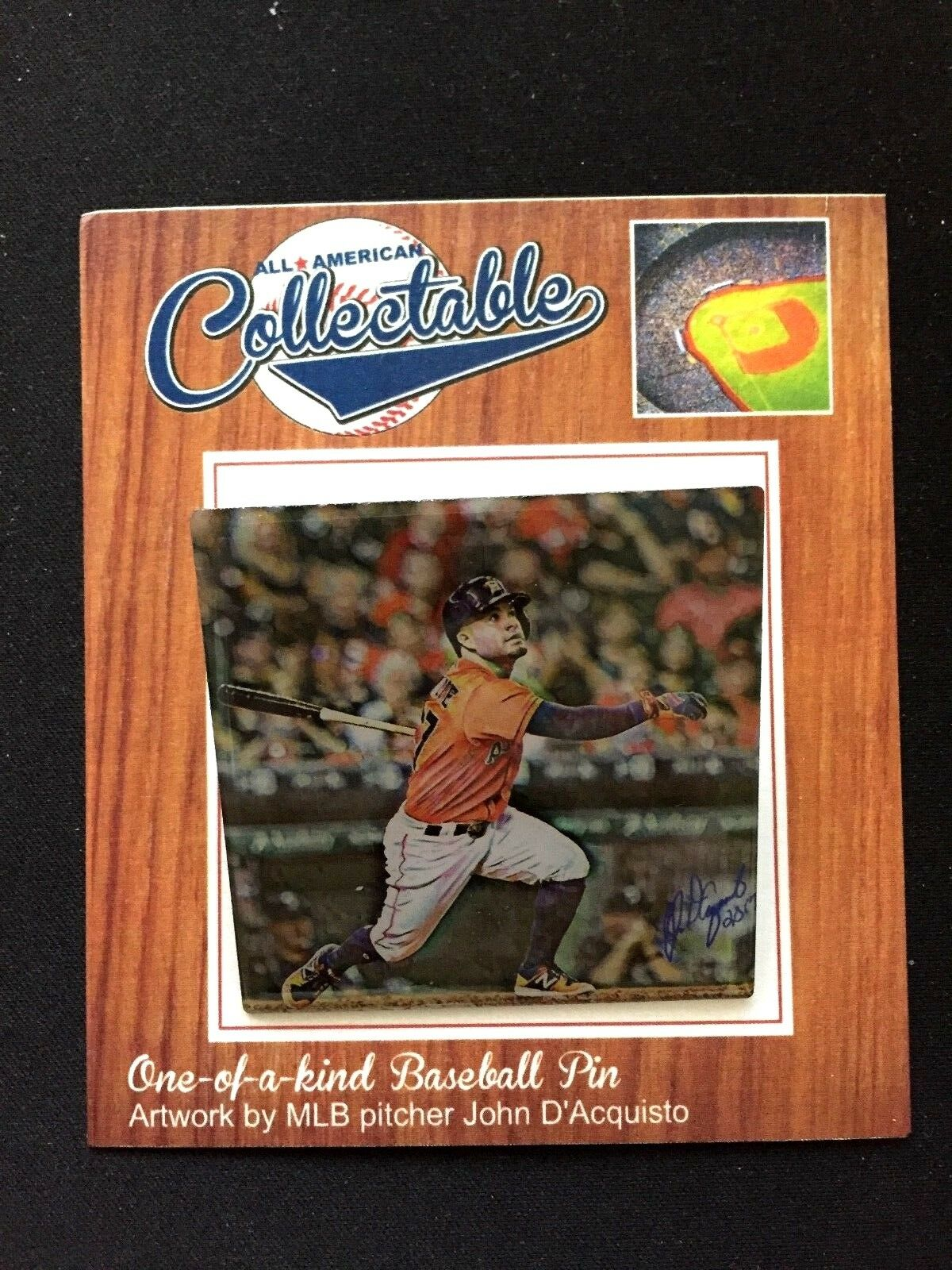 Houston Astros Jose Altuve Revers Pin-Retro Pin-Retro Pin-Retro Sammelobjekt Memories-Mvp   Ws 10faf0