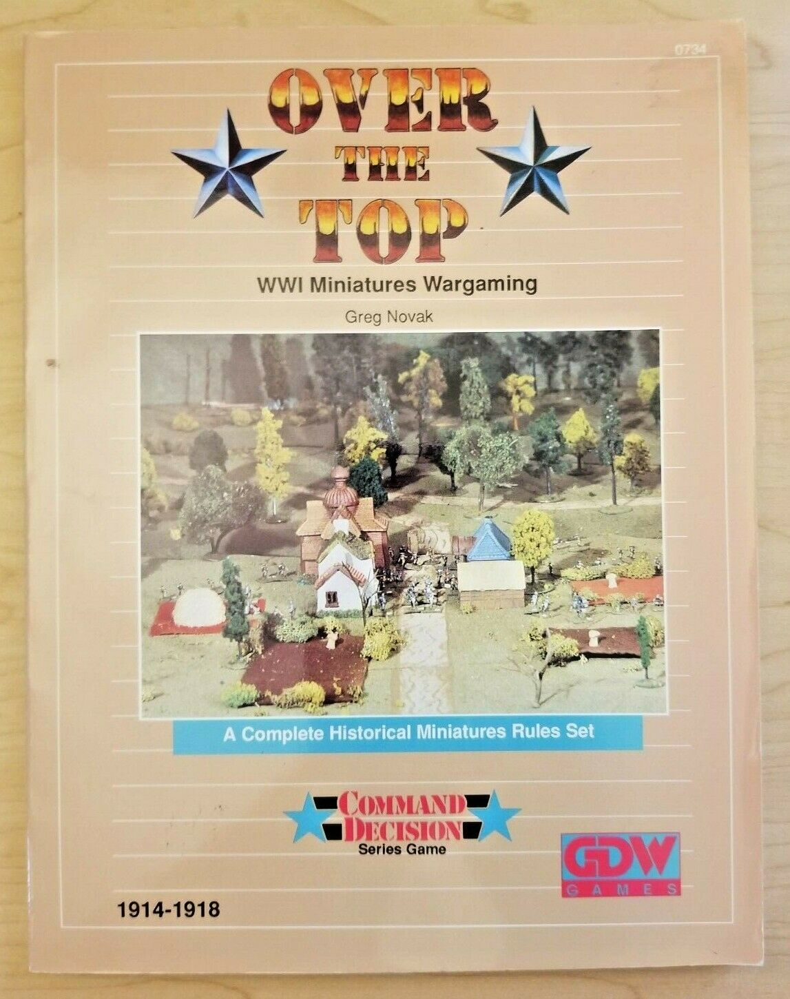 Over The Top  WWI Miniatures Wargaming (Command Decision series game, GDW)