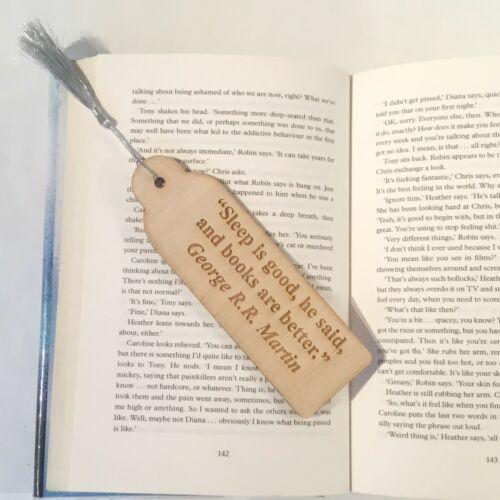 excuses from Famous Authors Wooden Bookmark