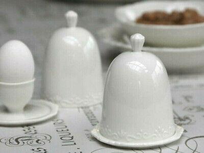 Chic Antique Butterdose PROVENCE weiß Landhausstil Porzellan Dose mit Deckel