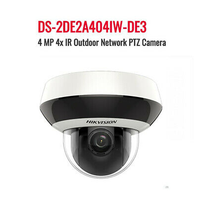 Hikvision IP PTZ 4MP 4XZoom POE DS-2DE2A404IW-DE3 Darkfighter WDR Camera outdoor