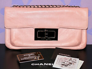 ba7e5d58acf0 Image is loading CHANEL-2-55-REISSUE-Oversized-Clutch-Chain-Shoulder-