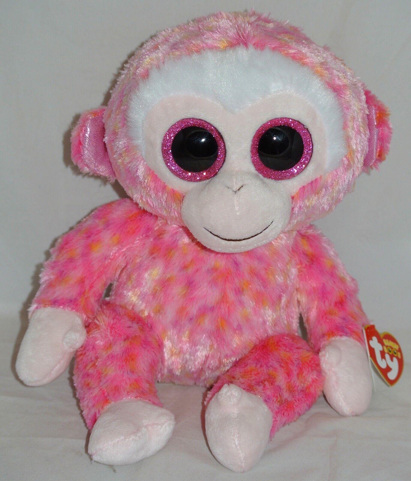 50178608a2b Ruby Red Monkey Beanie Boo Medium 13 Stuffed Animal by Ty 37010 for ...