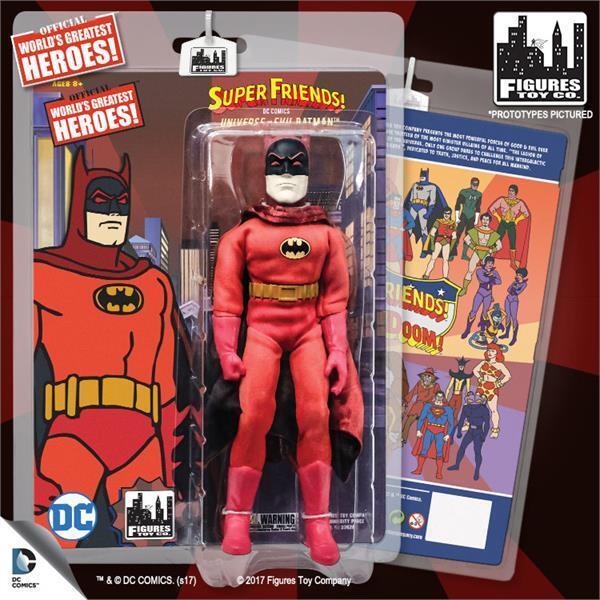 DC súper Amigos Retro 8  serie 5 universo del mal Batman Menta en paquete Nuevo