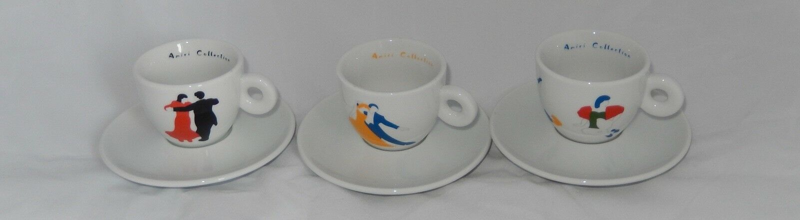 ILLY COLLECTION Amici tasse Illy Tasse Marco LODOLA 1998 3 tasses