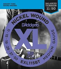 D'Addario EXL-115BT Balanced Tension Electric Guitar Strings medium 11-50