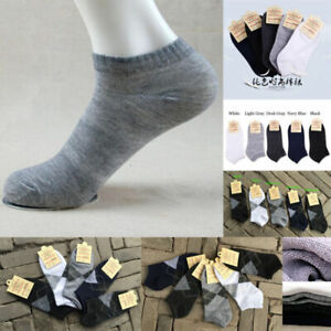 Socks-Ankle-Low-New-3-5-10-Pairs-Mens-Cotton-Cut-Sock-Casual-Sports