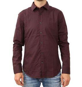 G Fig 1545 L Core Homme Chemise 83953f star Bordeaux 7085 Dk Nouveau s Shirt Ygxgfwqr