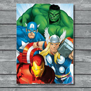 Marvel Retro Style A4 Poster Glossy Print