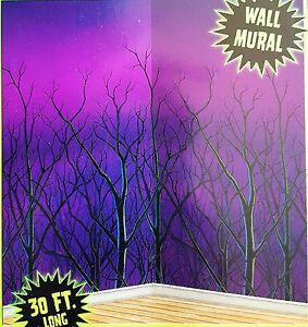 30ft Spooky Forest TREETOPS Wall Mural Halloween Scene Setter Photo