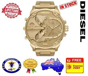 DIESEL-DZ7399-MR-DADDY-2-0-ALL-GOLD-Multiple-Time-Zone-Chronograph-Mens-Watch