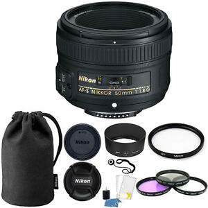 Nikon-50mm-f-1-8G-Auto-Focus-S-NIKKOR-FX-Lens-58mm-Top-Kit-for-Digital-SLR