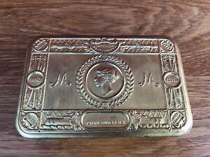 Original First World War Princess Mary Christmas 1914 Brass Gift Tin