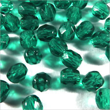 Facettes de Bohème 4mm Emeraude Lot de 50 perles