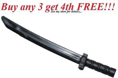 ☀️NEW Lego Weapon Flat Silver Gray KATANA SWORD Ninjago Ninja Shamshir Samurai