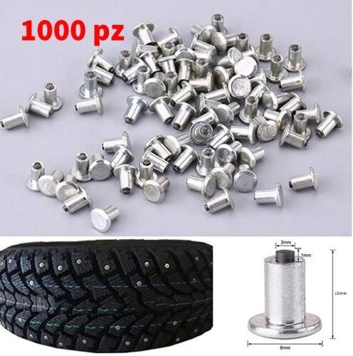 CHIODI VITI ANTIGHIACCIO//NEVE 1000 pz//scatola SUV 9mm per pneumatici per AUTO