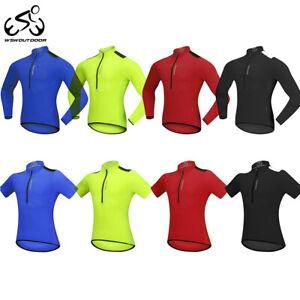 Maglia-Ciclismo-Uomo-Squadra-da-Corsa-maglie-mezza-cerniera-Tops-Cycling-Jersey