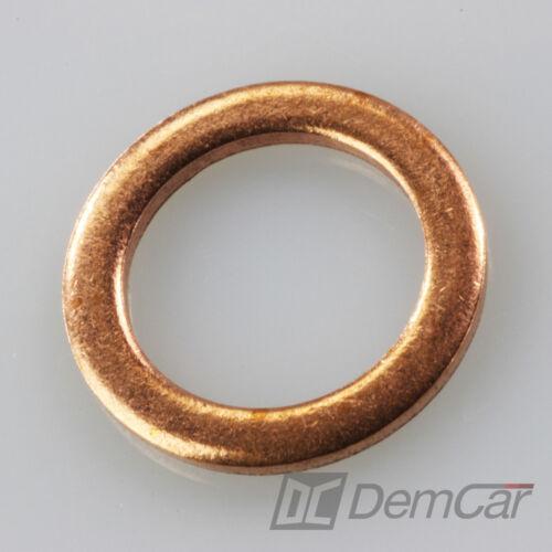 10x universal Cuivre Anneaux Bagues D/'étanchéité rondelle Cuivre D/'étanchéité 10x14x1.2mm