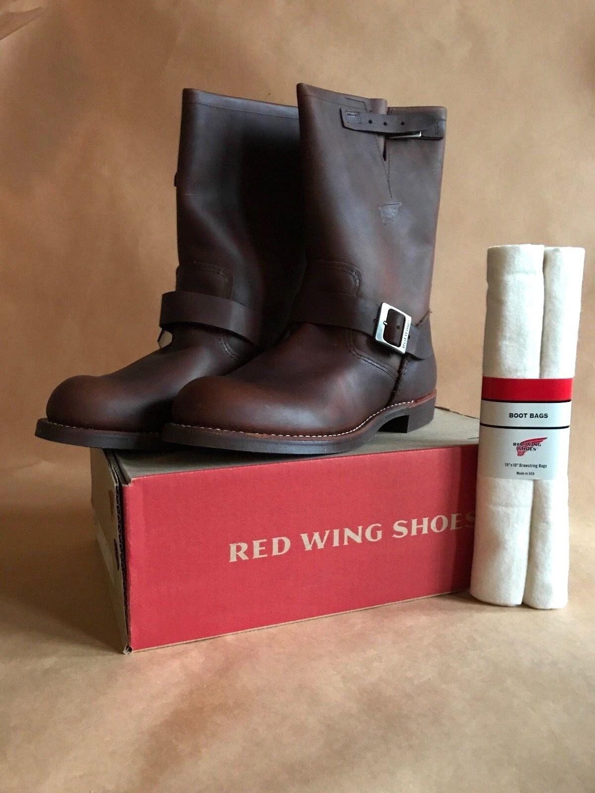 rot Wing schuhe 2991 D Engineer mit Schuhbeutel