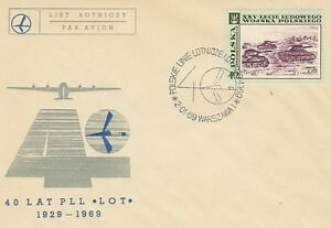 Poland postmark WARSZAWA - aviation LOT (analogous) - Bystra Slaska, Polska - Poland postmark WARSZAWA - aviation LOT (analogous) - Bystra Slaska, Polska