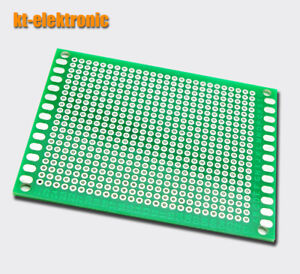 60x80mm-Lochrasterplatine-2-54mm-doppelseitig-Platine-Leiterplatte-PCB-6x8cm