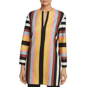 Tory Burch Womens Multi Striped Tunic Beachwear Dress Swim Cover-Up XS BHFO 7196