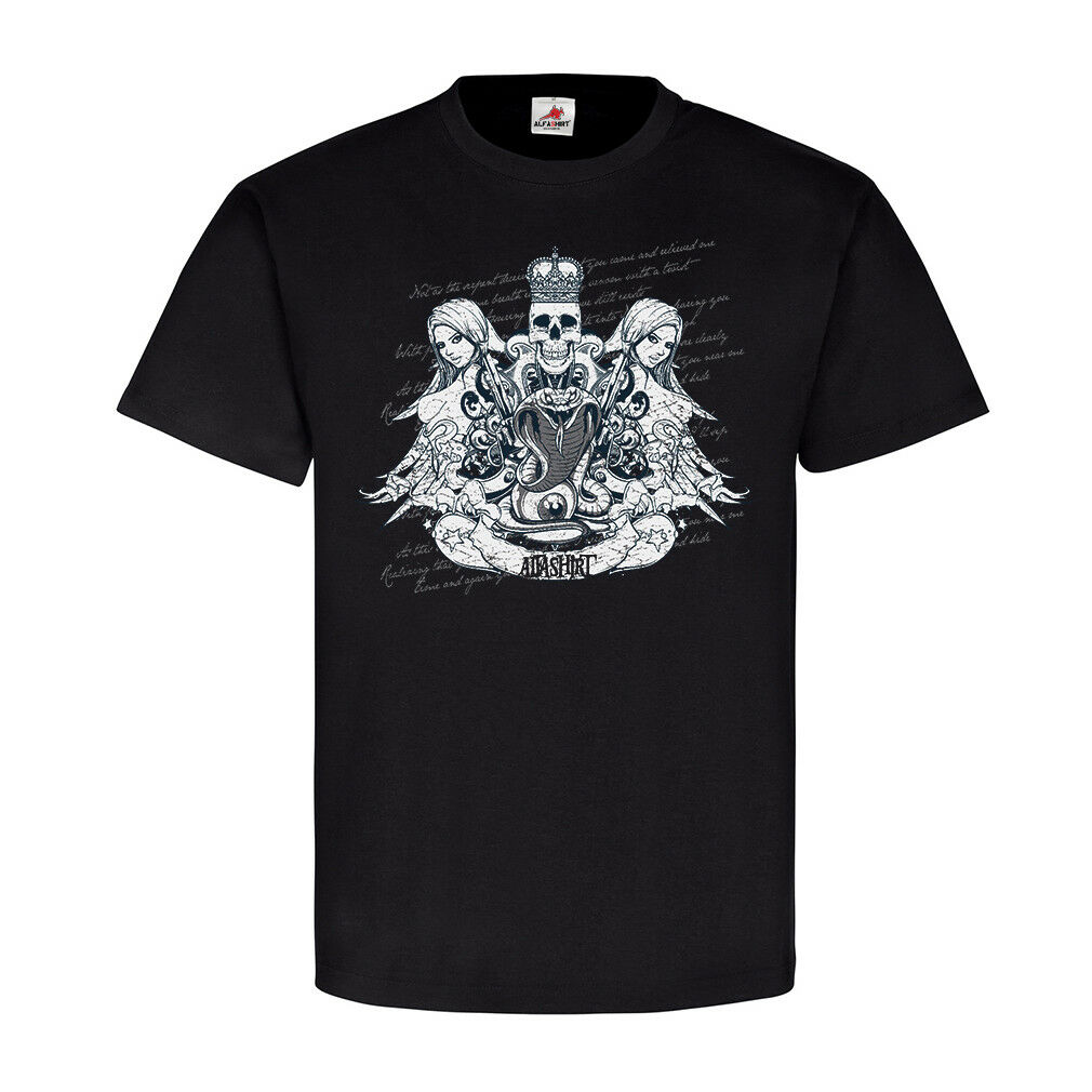 King of Death Skull Girls Snake King Lifestyle Style Fashion T-Shirt