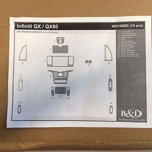 new wood grain auto dash interior trim kit for infiniti qx qx80 2014 2016 ebay. Black Bedroom Furniture Sets. Home Design Ideas