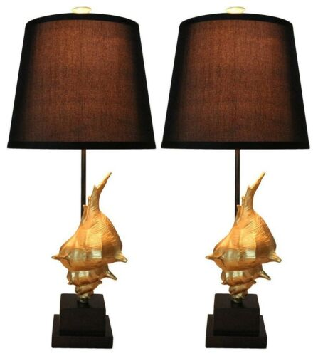 Set of 2 Conch Table Lamps
