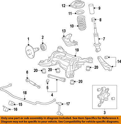 Chevrolet GM OEM 10-15 Camaro Rear Suspension-Knuckle Spindle 23262764
